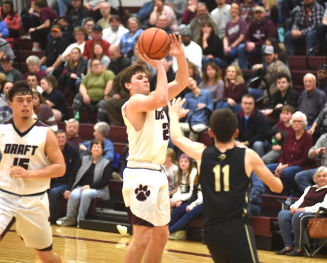 Stuarts Draft's Mark Rodgers puts up a shot Tuesday during  a regional win over Buffalo Gap.
