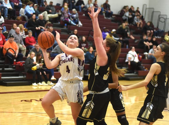 Stuarts Draft's Maggie Sorrells drives for a shot Tuesday against Buffalo Gap in the Region 2B quarterfinals.