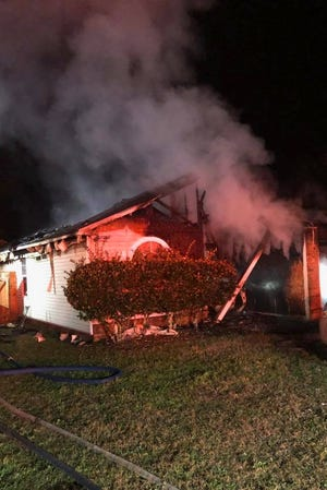 Tallahassee firefighters and Leon County deputies pulled two people from a house fire on Tower Wood Trail on Feb. 26, 2020.