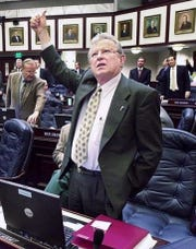 Undated photo of then-state Rep. Jerry Melvin on the floor of the Florida House during a vote.