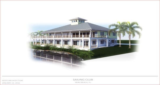 This rendering by Hoos Architecture depicts the Youth Sailing Foundation of Indian River County's proposed Vero Beach Community Sailing Center. The center might be located on the site of the former Vero Beach power plant along the Indian River Lagoon.