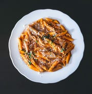 Pasta dish from Bellasera Ristorante in Larchmont.