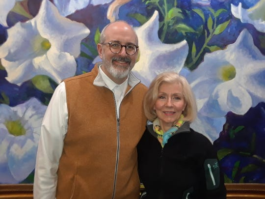 Dr. Robert Parkey placed second in the ekphrastic poetry contest; Dr. Lynn Hoggard placed first, and Marcela Trice (not pictured) placed third.