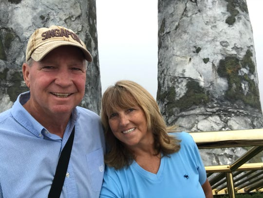 Diamond Princess passengers John and Melanie Haering were separated on Feb. 13, when he was transported to a Japanese hospital and diagnosed with coronavirus. Three days later, she boarded an evacuation flight to the U.S. and entered quarantine at Travis Air Force Base in California.
