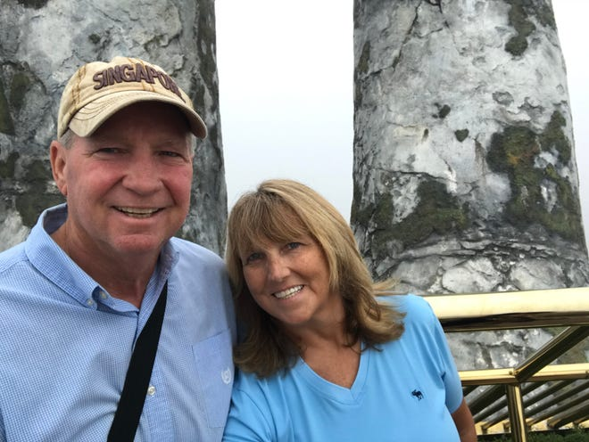 Diamond Princess passengers John and Melanie Haering have been separated since Feb. 13, when he was transported to a Japanese hospital and diagnosed with coronavirus. Three days later, she boarded an evacuation flight to the U.S. and entered quarantine at Travis Air Force Base in California.