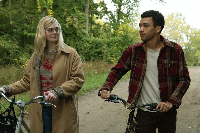 """Violet (Elle Fanning) and Finch (Justice Smith) have a connection in Netflix's new YA adaptation """"All the Bright Places."""""""