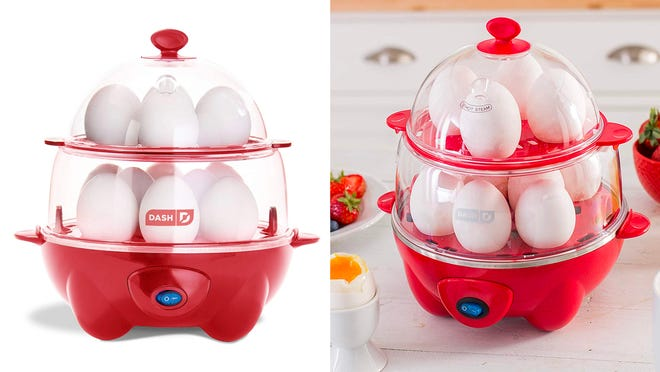 You can snag the deluxe version of this weird but wonderful egg cooker on sale in red.