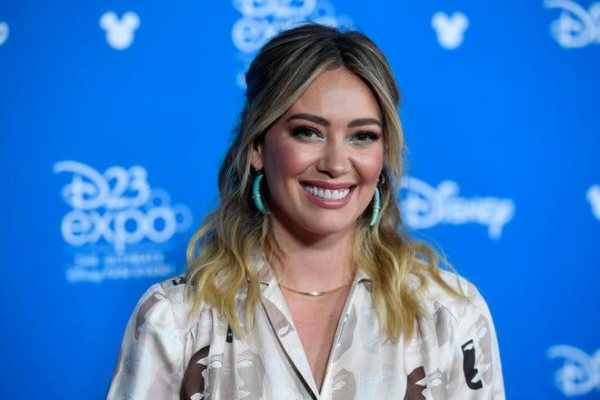 Hilary Duff attends D23 Disney+ Showcase at Anaheim Convention Center on August 23, 2019 in Anaheim, California.