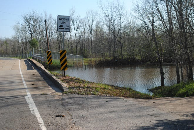 The city of Alexandria is applying for millions of dollars in flood mitigation funds for projects to move water more effectively through its drainage canals, such as Hynson Bayou.