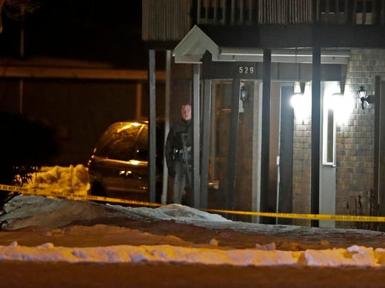 Appleton police and Outagamie County sheriff's deputies respond to an incident late Wednesday, Feb. 26, 2020 at North Kensington Drive, near East Newberry Street in Appleton, Wis. Wm. Glasheen/USA TODAY NETWORK-Wisconsin