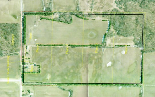 Borders of a proposed gravel pit in the town of Scott in Sheboygan County.