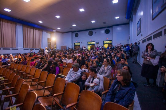 The Ella G. Clarke School community came together to honor the memory of beloved librarian Sara Trahey in the school auditorium on Feb. 26, 2020. Trahey died in a fire Feb. 7.