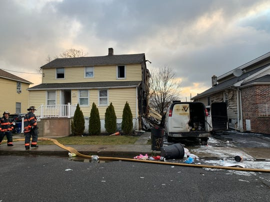 The aftermath of a Long Branch fire on Feb. 27, 2020