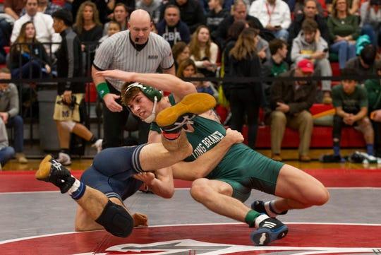 Long Branch's Ryan Carey defeated CBA's Mason Garber 16-3 in a 152-pound Region VI pre-quarterfinal-round bout Wednesday night.