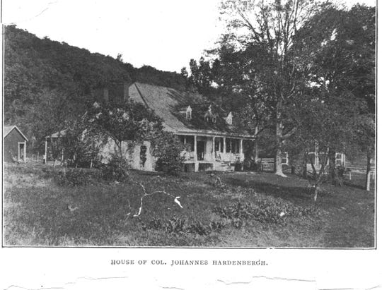 A 1903 photo of the house of Col. Johannes Hardenbergh. Isabella Baumfree, who later became Sojourner Truth, lived as a slave at the New York estate as property of Hardenbergh.