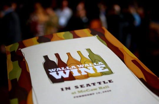 A program for the Walla Walla Wine in Seattle program in February at McCaw Hall in Seattle.