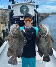This angler caught these tripletail this week while fishing with Capt. Glyn Austin on Going Coastal charters in Palm Bay.