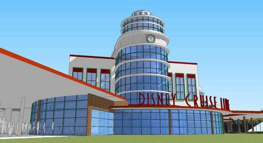 This is an artist's rendering of what Port Canaveral's Cruise Terminal 8 will look like after a renovation project.