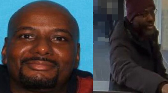 Police allege Leon Stanford, left, is the man seen in surveillance video from Saturday's holdup at TD Bank in Oaklyn.