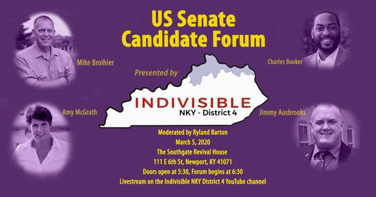 Indivisible NKY District 4 to host democratic senatorial candidate Forum