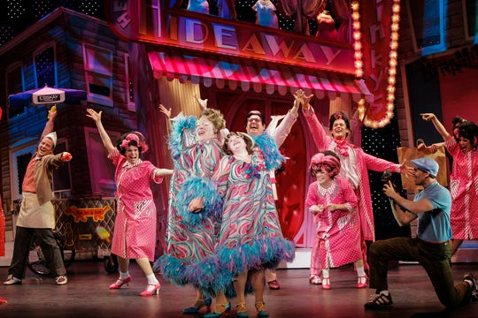 "A scene from the wonderfully over-the-top musical number ""(Hey mama) Welcome to the 60s"" from ""Hairspray."" The show runs May 4-9, 2021 as part of the Broadway in Cincinnati series."