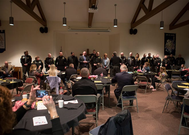 Sheriff deputies and other personnel were presented this week with honors at the biennial Coshocton County Sheriff's Office Awards ceremony for deeds of excellence over the past two years.