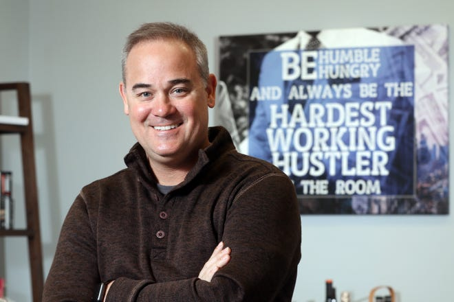 """Kirby Hasseman is CEO of Hasseman Marketing in Coshocton. """"I am very entrepreneurial by nature,"""" Hasseman said. """"In my role I get to meet with lots of businesses and learn how they work. That helps me help them grow. I love that."""""""