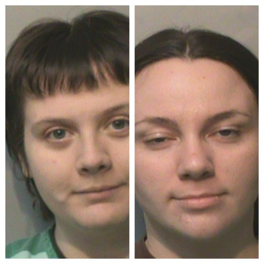 Lacie Hanlon, left, and Britney Goudeaux, right, were charged in November with writing fraudulent checks throughout the metro area. Both women pleaded guilty in January and were sentenced to two years probation.