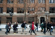 Students at the University of Michigan in Ann Arbor.