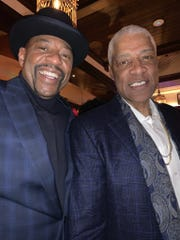 """From left, Earl """"The Twirl"""" Cureton Celebrates Julius Erving 70th Birthday Party in Atlanta."""
