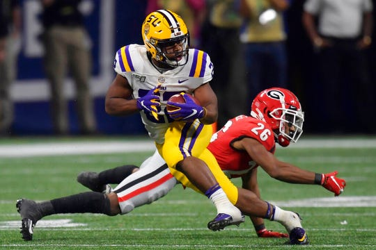 LSU running back Clyde Edwards-Helaire posted 1,867 yards from scrimmage, averaged 6.6 yards per carry and caught 55 passes last season.
