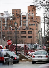 Milwaukee Fire Dept. personnel respond to reports of an active shooting at the Molson Coors Brewing Co. campus in Milwaukee, Wednesday.