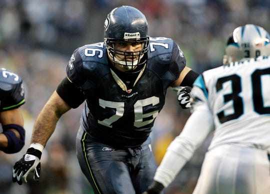 Former Michigan offensive lineman Steve Hutchinson spent 12 seasons in the NFL, and will be inducted into the Pro Football Hall of Fame.