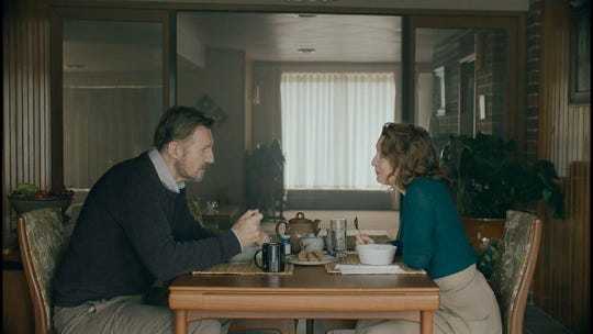 "Liam Neeson and Lesley Manville in ""Ordinary Love."""