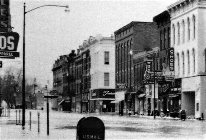 The 1959 flood reached into downtown Fremont.