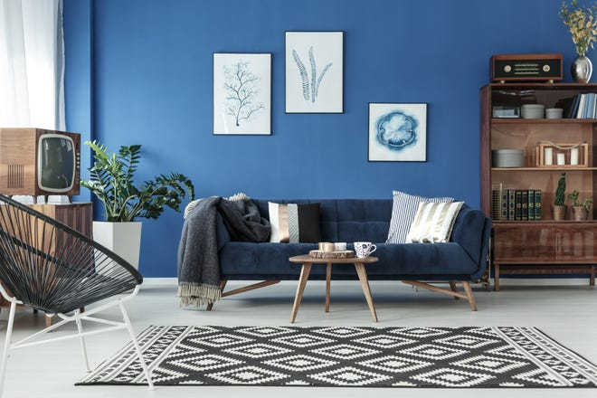 Classic blue is the Pantone color of the year. Matched with natural materials, warm metallics and indoor plants, you can bring your living spaces into the '20s in high style.