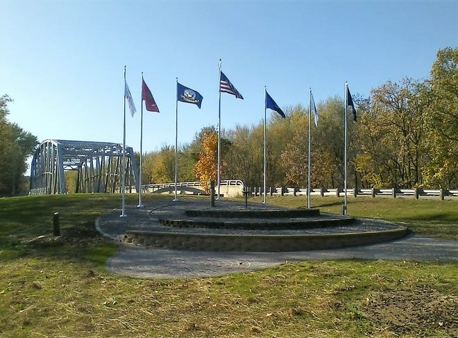Donors for two benches at the new veterans memorial at Riverside Park in Suring are being sought by Vets 4 Vets of Northeast Wisconsin, which hopes to dedicate the site late this spring.