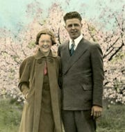 Ethel and Earl Rasmussen of Oconto, who took a 30-day, 6,500 mile honeymoon trip in 1937.