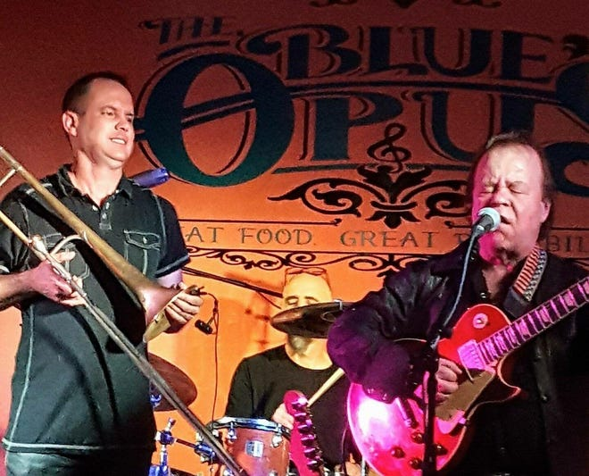 Jimmy Crimmins, right, is nominated for Blues Artist of the Year for the 40th Wisconsin Area Music Industry Awards.