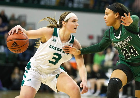 UWGB senior guard Frankie Wurtz was named to both the Horizon League first team and the all-defensive team on Monday.