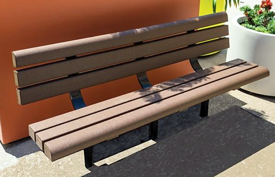 Two benches similar to this will be added to the veterans memorial constructed at Riverside Park in Suring, as soon as donors to cover the cost of purchasing and installing them step forward.