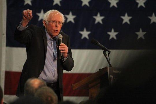 Bernie Sanders campaigns in Myrtle Beach, Wednesday, Feb. 26, 2020.