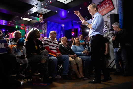 Tom Steyer, 2020 Democratic presidential candidate, held a meet and greet event at Nacho Hippo in Myrtle Beach Wednesday, February 26, 2020.