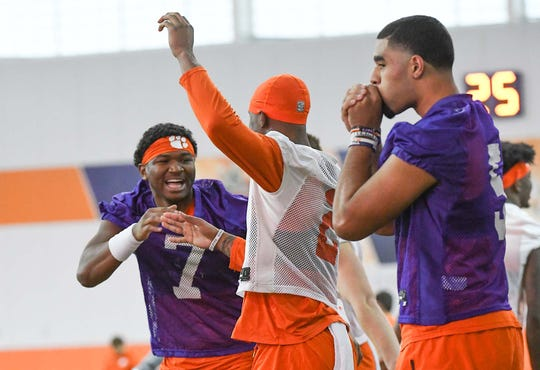 Clemson quarterback Taisun Phommachanh (7) redshirted after playing in only three games in 2019. In 2020, he'll compete to earn the No. 2 role behind Trevor Lawrence