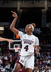 Mississippi State sophomore center Jessika Carter had 25 points and 18 rebounds in the Bulldogs' record-breaking win.