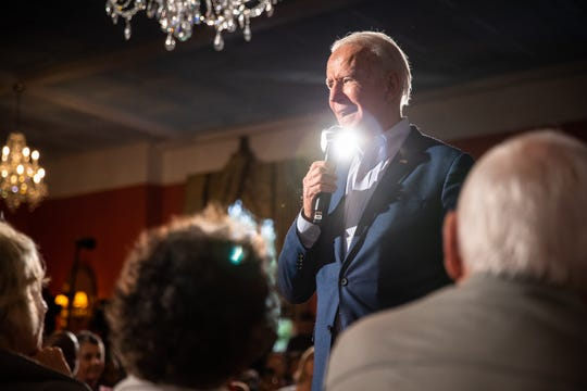Former Vice President Joe Biden, a 2020 Democratic presidential candidate, held a community event at Winyah Indigo Society Hall in Georgetown Wednesday, February 26, 2020.
