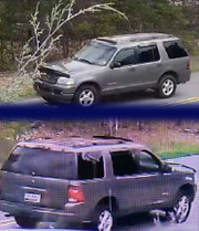 Investigators believe the suspect in a fatal shooting is driving this 2004 Ford Explorer.