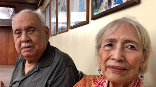 World War II survivors Roy P. Gogue, 90, and wife Ana T. Gogue, 85, share how they and their families lived during the war. Mrs. Gogue received an advance war claims payment on Feb. 27, 2020 under a GovGuam program.