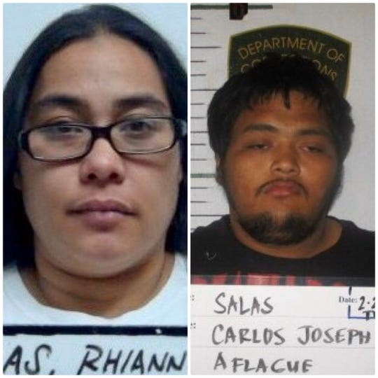 Rhiannon Marie Torres Blas and Carlos Joseph Aflague Salas Jr. are shown in this combined photo.