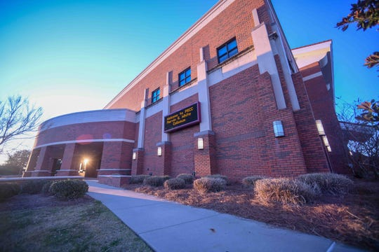 Pearl River Community College is hosting the Mississippi High School Activities Association high school basketball championships at Marvin R. White Coliseum, pictured here Thursday, Feb. 27, 2020.